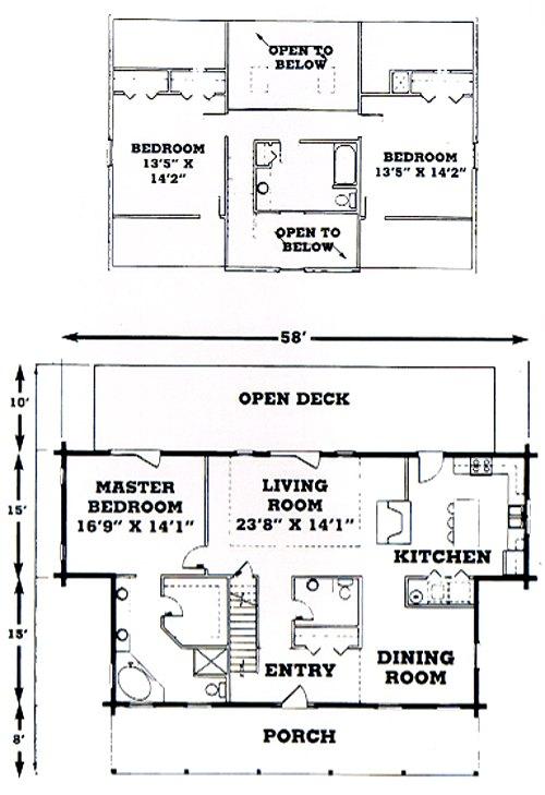 Suwannee River Log Homes Floor Plans